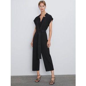 NWT Zara Black Jumpsuit M